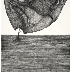 ללא כותרת, 2012,טוש על נייר, 70x50 סמ