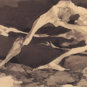 יוסף הירש, דיסקובולוס, 1965, גרפיט ודיות, 42.6X29