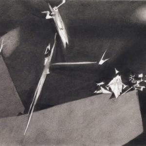יוסף הירש, שאגאליאדה, 1994, גרפיט ודיוט, 38.5X27