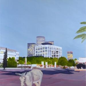 """שמעון פינטו, תל אביב, 2011, שמן על בד, 150*130 ס""""מ"""