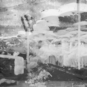 Nir Evron, Dreyfus/Méliès (Attentat Contre Maitre Labori, Star Film 212, 1899), 2014, B/W pigment inkjet print on archival paper, 18X24cm
