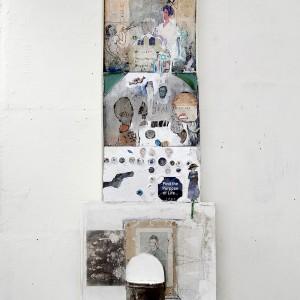 Zvi Tolkovsky, known Artist, 2015, mixed media, 22x49x 113 cm. Photography: Shlomo Seri