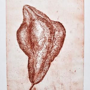 Noemi Tedeschi Blankett, untitled, 2013-14, softground, aquatint, 25x34 cm