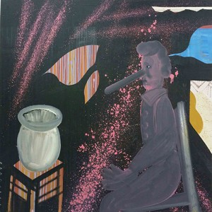 Shai Azoulay, Pino, 2015, oil on canvas, 120X120 cm