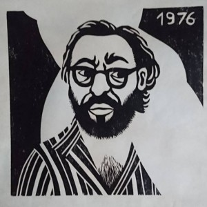 Self Portrait, 1976, woodcut, 54x56.5 cm, photo-Ran Erde