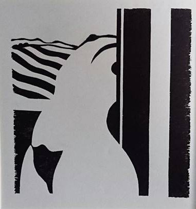 A Girl at the Window, 1978, woodcut, 35x36 cm, photo-Ran Erde