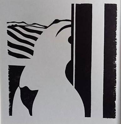 נערה ליד החלון, 1978, חיתוך עץ, צילום-רן ארדה