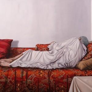 פטמה אבו רומי, ונוס 1, 2017, צבעי שמן על בד