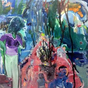 Michal Orgil, No Satellite Reception, 2018, oil on canvas