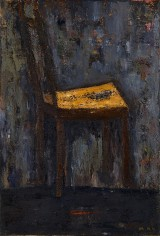 Mira Hermoni Levine, A chair alone, 2012, oil on linen, photo: Gregory Khatin
