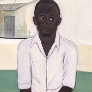 מיכל וורקה, איש בלתי נראה, 2017, אקריליק על קנבס, אוסף פרטי