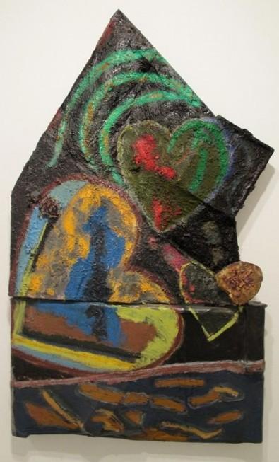 פסח סלבוסקי, לב #2, 2003-2013, שמן על קנבס מפוסל, באדיבות גלריה גבעון