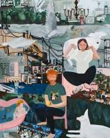 שירה גפשטיין מושקוביץ, תמו פלאייך(פרט), 2018, שמן על בד, טריפטיךShira Gepstein Moshkovich, Your Wonders are Over, (detail), 2018, oil on canvas, triptych