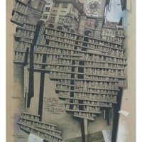Amir Tomashov Scaffoldings XXI 2012 Mixed media on cardboard 40X60 cm