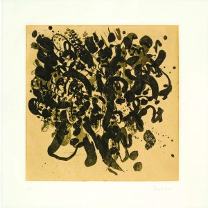 Tapestry of Feelings, 2007, Sugar Lift and Chine Colle Etching, 45x45 cm