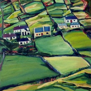 Conemara Fields, 2006 Oil on Canvas 60 X 60 cm