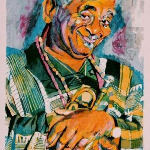 Dizzy Gillespie, 1995 Silk Screen 50 X 70 cm