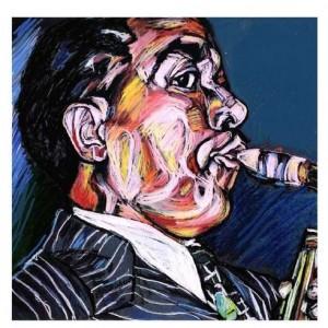 Charlie Parker, 2006 Pastel 50 X 50 cm