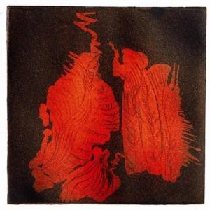 Medea, 2006 color etching 9 X 9 cm
