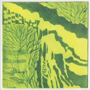 Trees near the steam, 2006 color etching 9 X 9 cm