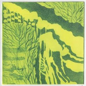 עצים ליד הנחל, 2006 תחריט צבעוני 9 X 9 סמ