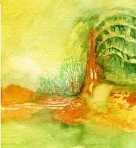 קיץ, 2006 צבעי מים 11 X 6 סמ