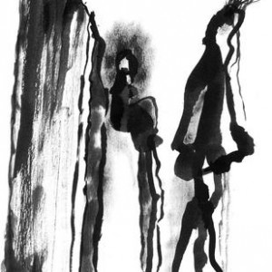 Secure Love, 2007 Ink drawing 42 X 29.7 cm