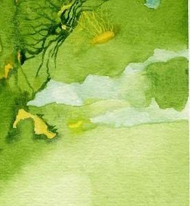 נוף פרפרי, 2006 צבעי מים 11 X 6 סמ