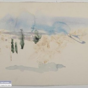 French Hill, 2003 watercolor 56 x 76 cm