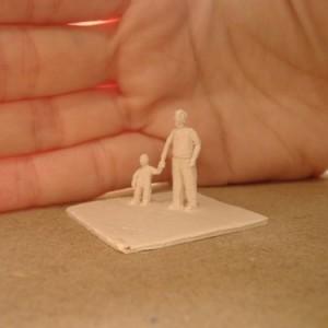 ללא כותרת, 2007 פיסול ידני -paper clay 3x3.5x2.5 סמ