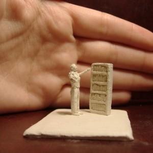 ללא כותרת, 2006 פיסול ידני - Paper Clay 4x5x2.5 סמ