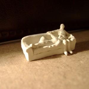 ללא כותרת, 2005 פיסול ידני - Paper Clay 2.5x1x1.5 סמ