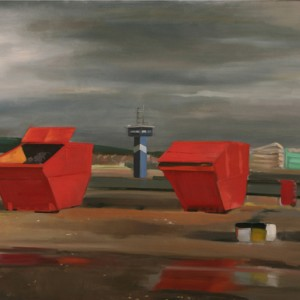 Ardroson Harbour - Charuvi Noa, 2004, Oil on canvas, 100X80 cm