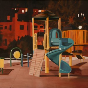 Playground I - Charuvi Noa, 2004, Oil on canvas, 90X90 cm