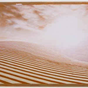 From the Hissuf (exposure) sequence - Zahavi Reuven,  2007, Red chalk on printed paper