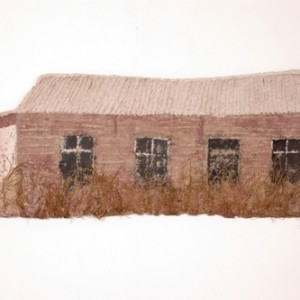 The shack, 2007 crushed paper 50 X 180 cm