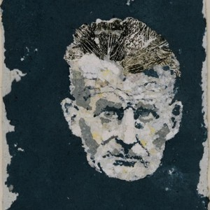 Samuel Beckett, 2005 Crushed and recycled paper 28 X 34 cm