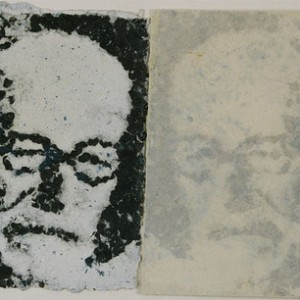 Sigmund Freud , 2004 Crushed and recycled paper 32 X 55 cm