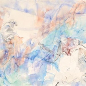 Afternoon at the Dead Sea - Menes Eve, 2002-2007, Aquarelle on paper, 113X89