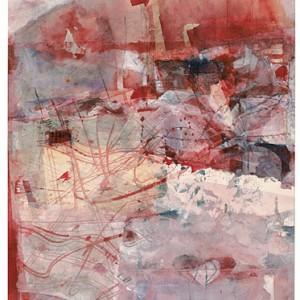 קולות אדומים של ציפורים, 1998 צבעי מים 27.5X37.5 סמ