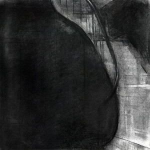 Simon Adjiashvili, Untitled, 2006, charcoal on paper 25.7x25.5