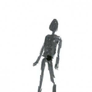 נעמי גפני, דיוקן עצמי, 2004, טושים על נייר 29X21