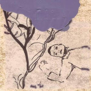 Anat Michaelis-Levi, We Tried to Say Hello, 2006, ink, oil, tracing paper, and faux-parchment paper 21x18