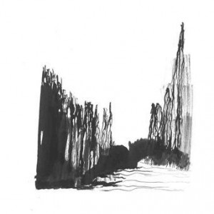 Liat Polotsky, Wall of Trees, 2007, ink on paper 42X29.7