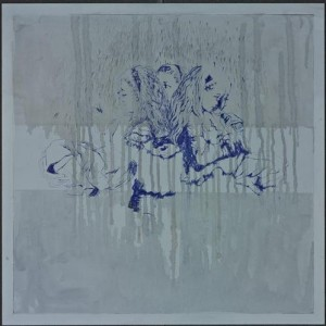 Yifat Bezalel, Did you See the Wind?, 2007, pencil and ink on MDF 50X50