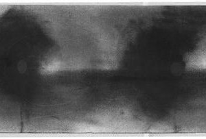 Inga Fonar Cocos, Untitled, 2002-2003, graphite on paper 25x65