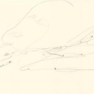 Zohar Cohen, The Golan Heights, 2007, pencil on paper 36X48