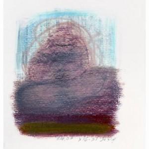 מיכאל לבטוב, אסורה, 2007, גרפיט על הדפסה דיגיטלית של צילום 15x21