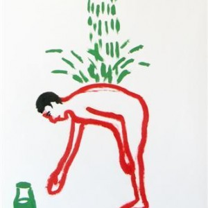 Amnon Ben-Ami, Shower, 2006 oil on paper 100X70