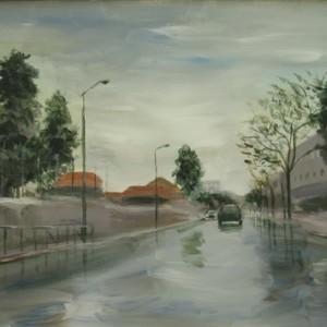 ירושלים- 1 - בוקר לאחר הגשם, 2007 אקריליק על בד 70X50
